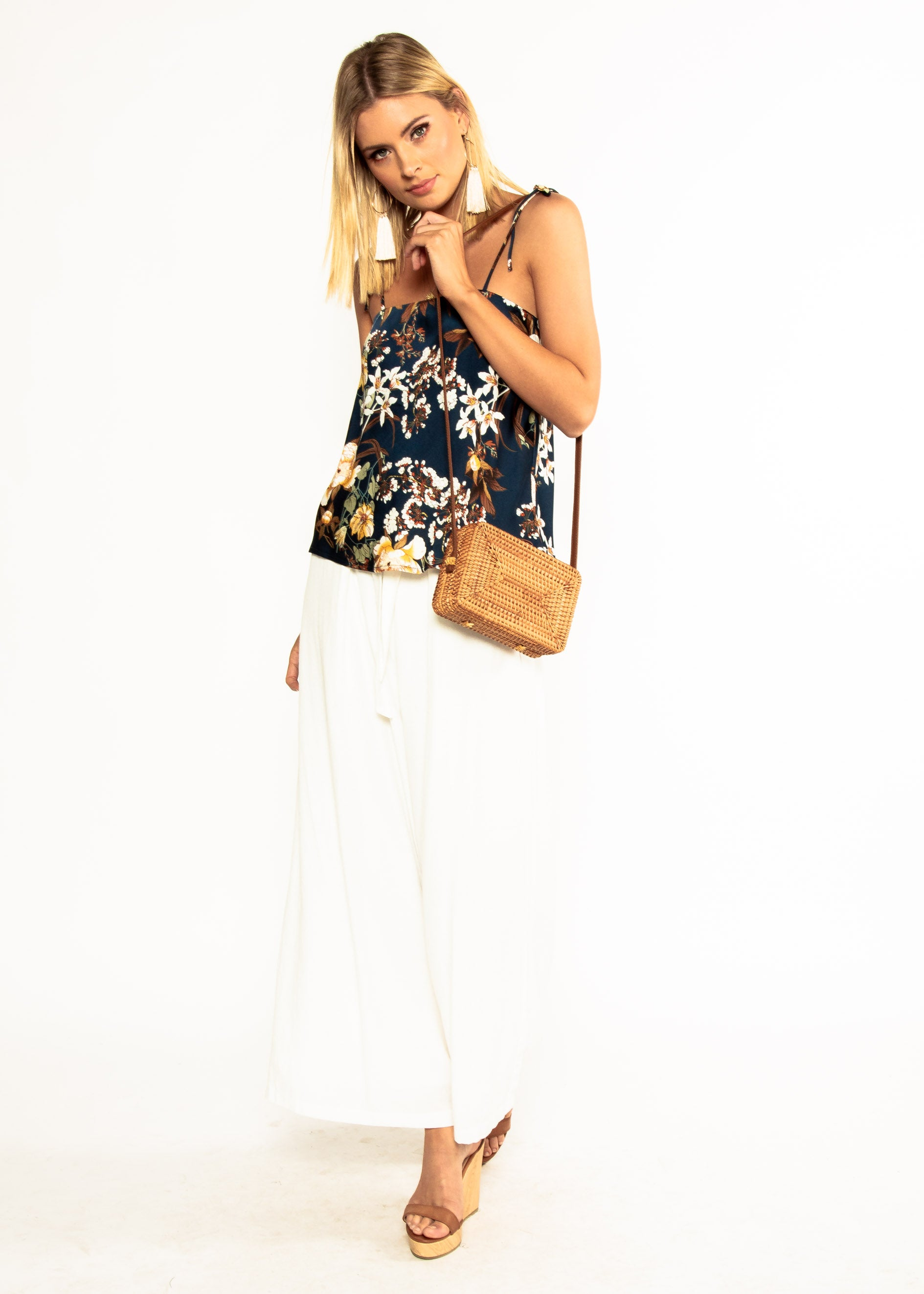 Dream Of Venice Cami - Navy Bloom