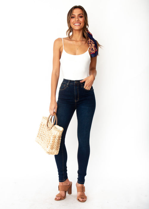 Rowan High Rise Jeans - Dark Blue