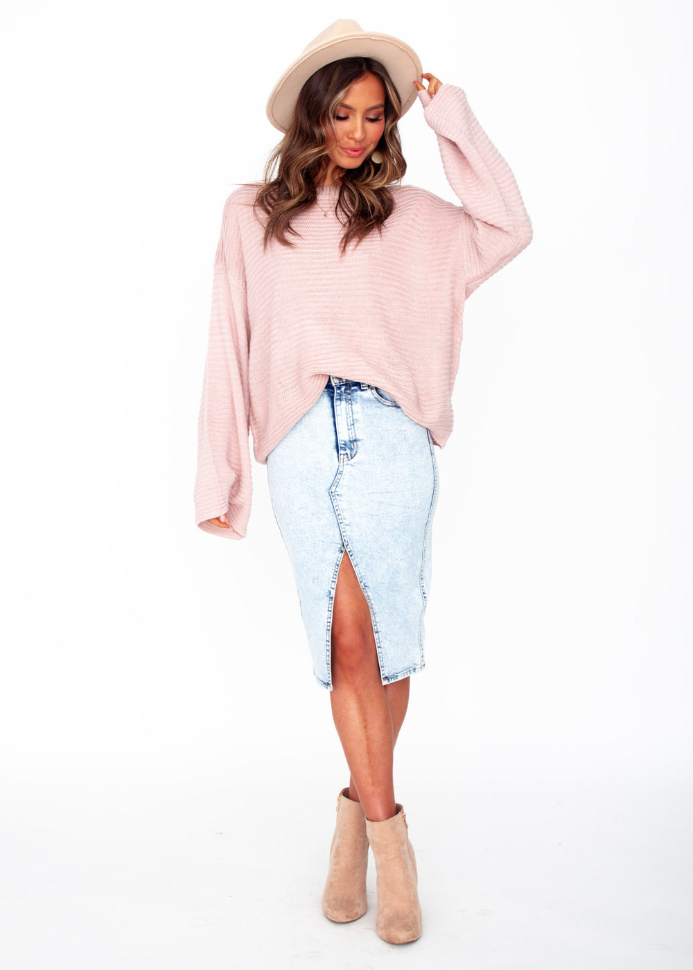 Women's Manilla Sweater - Blush