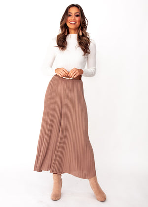 Wintercrest Knit Culottes - Mocha