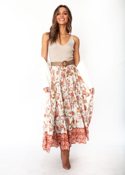 Women's Josie Boho Maxi Skirt - Autumn