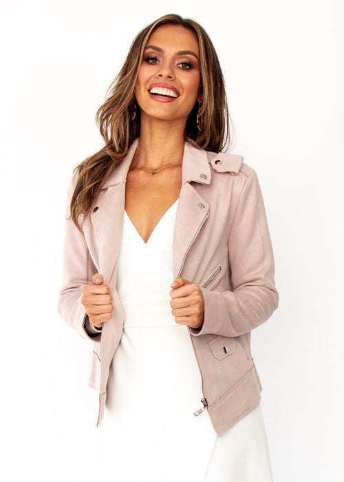 Women's Love Code Jacket - Blush