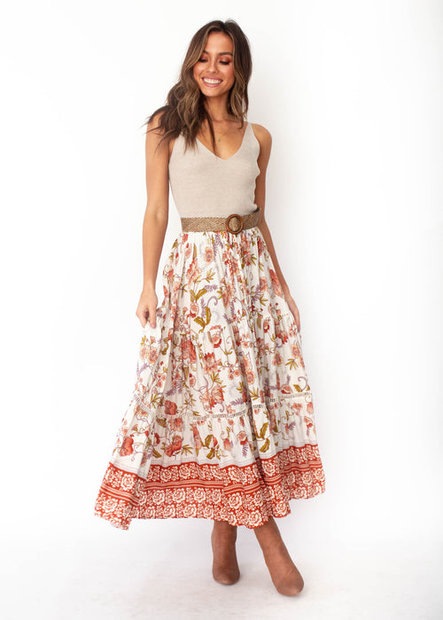 Josie Boho Maxi Skirt - Autumn