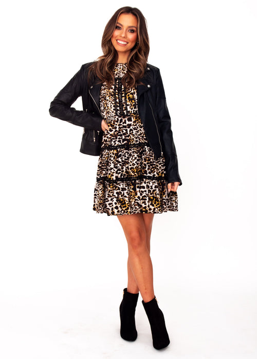 Fernanda Swing Dress - Becca - Jaase - Leopard Print