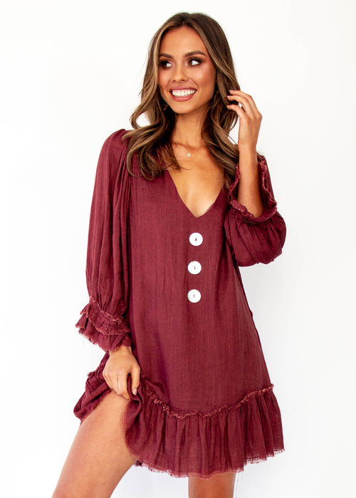 Women's Jerona Dress - Maroon