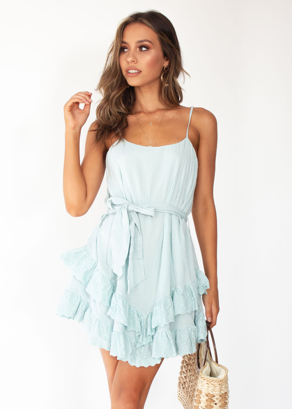 All The Stars Swing Dress - Sage