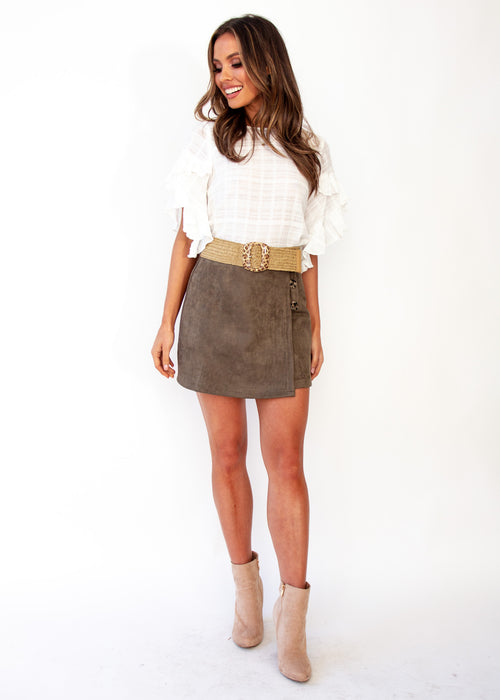 Love Spur Skirt - Khaki