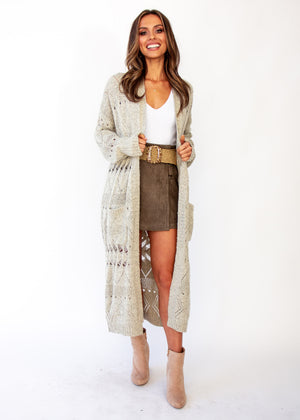 Women's Spectacle Cardigan - Oatmeal