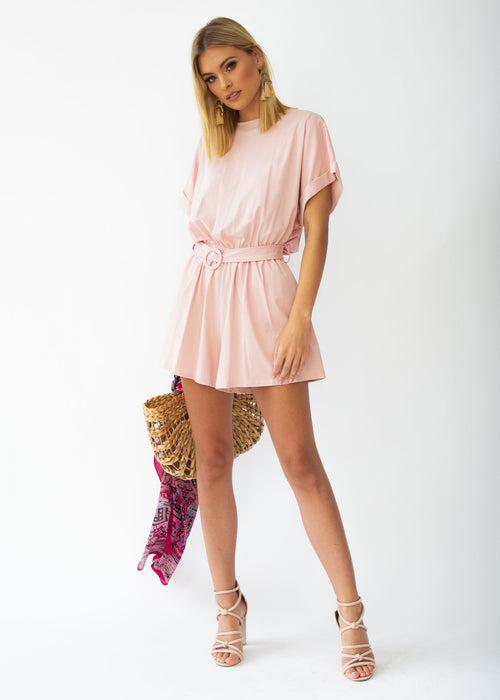 Piece Of Me Playsuit - Blush