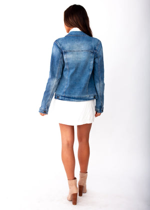 Keller Denim Jacket - Mid Blue