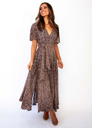 Women's Lia Maxi Dress - Chaser Leopard Print - Jaase