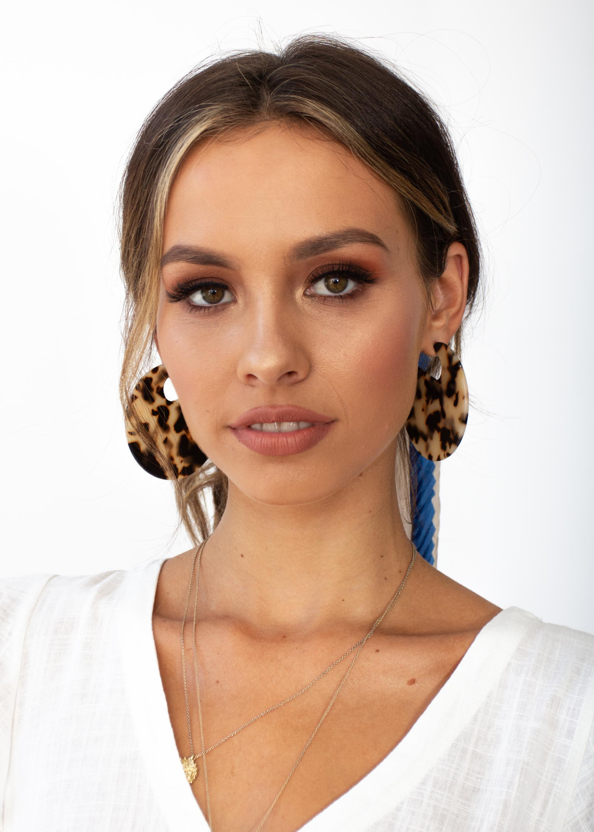 Camille Earrings - Tort