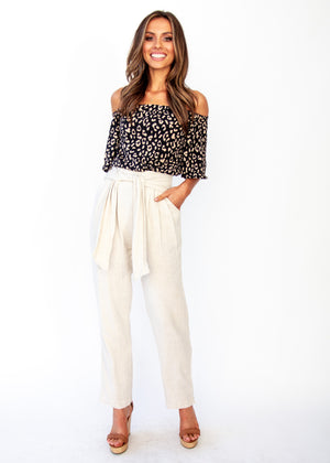 Dream Spark Linen Pants - Natural