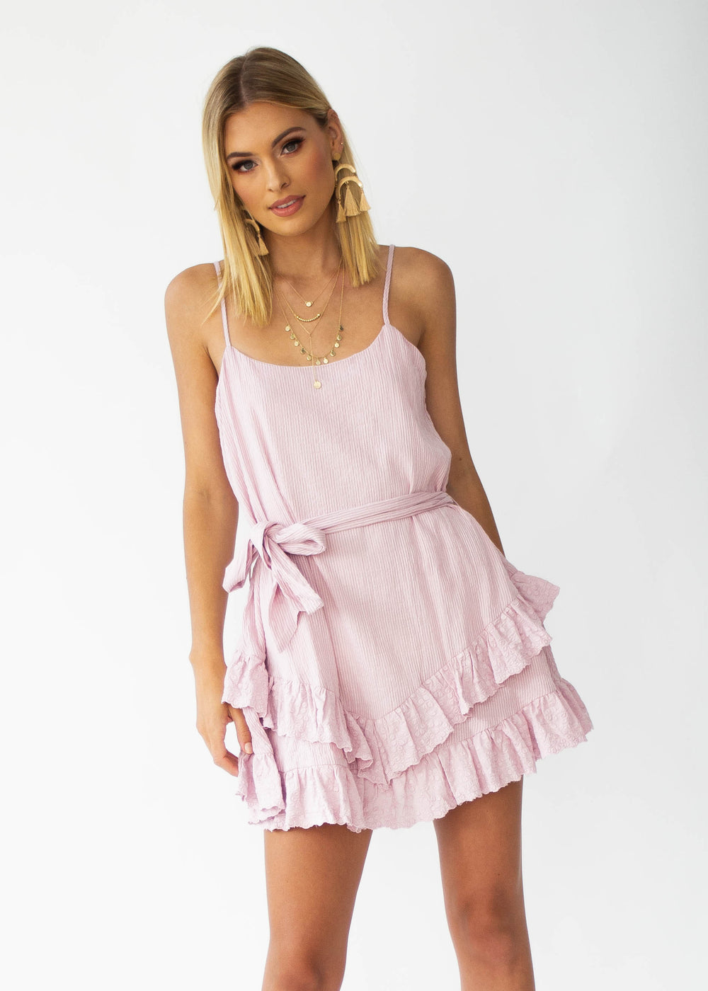All The Stars Swing Dress - Blush