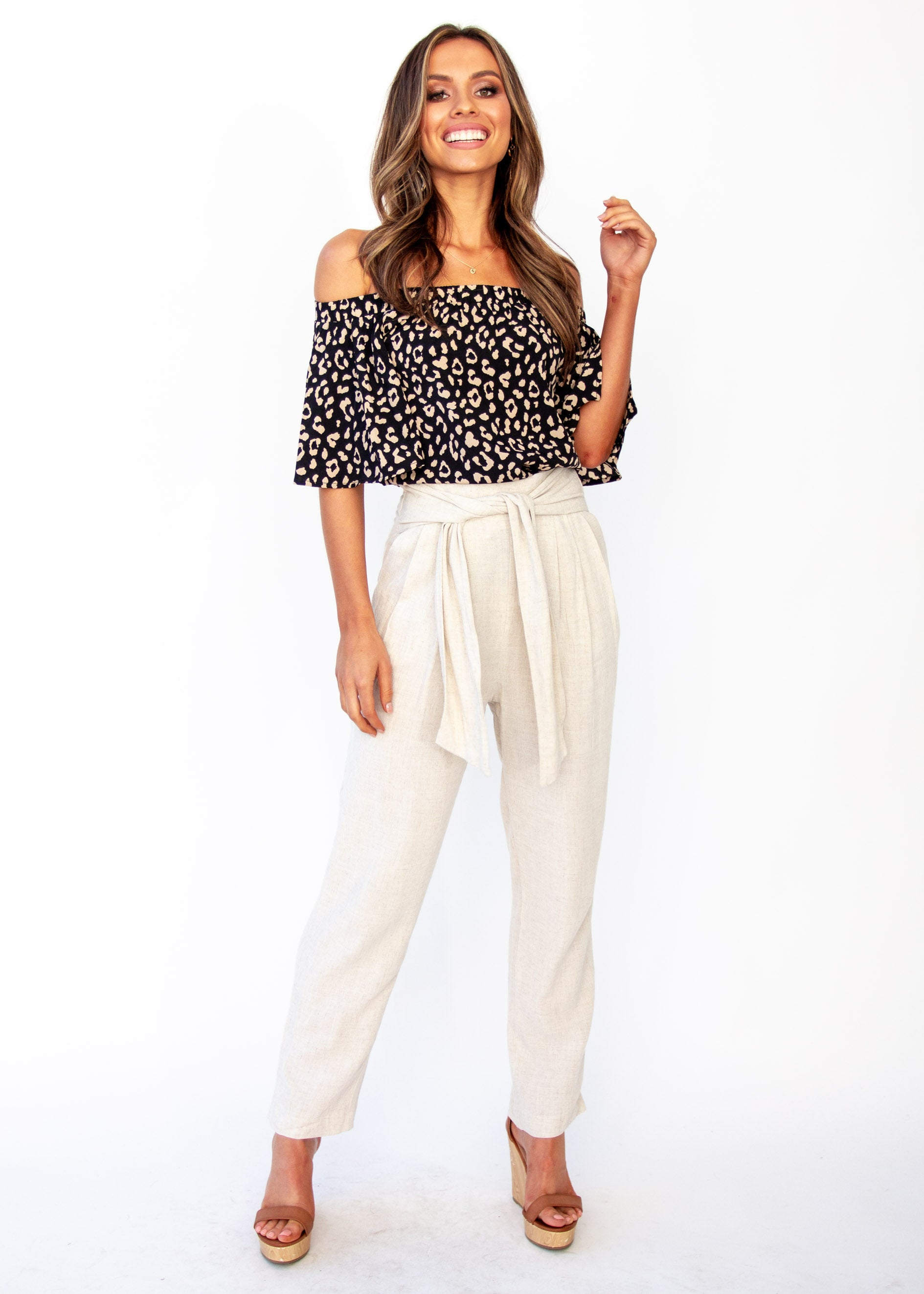 Women's Dream Spark Linen Pants - Natural