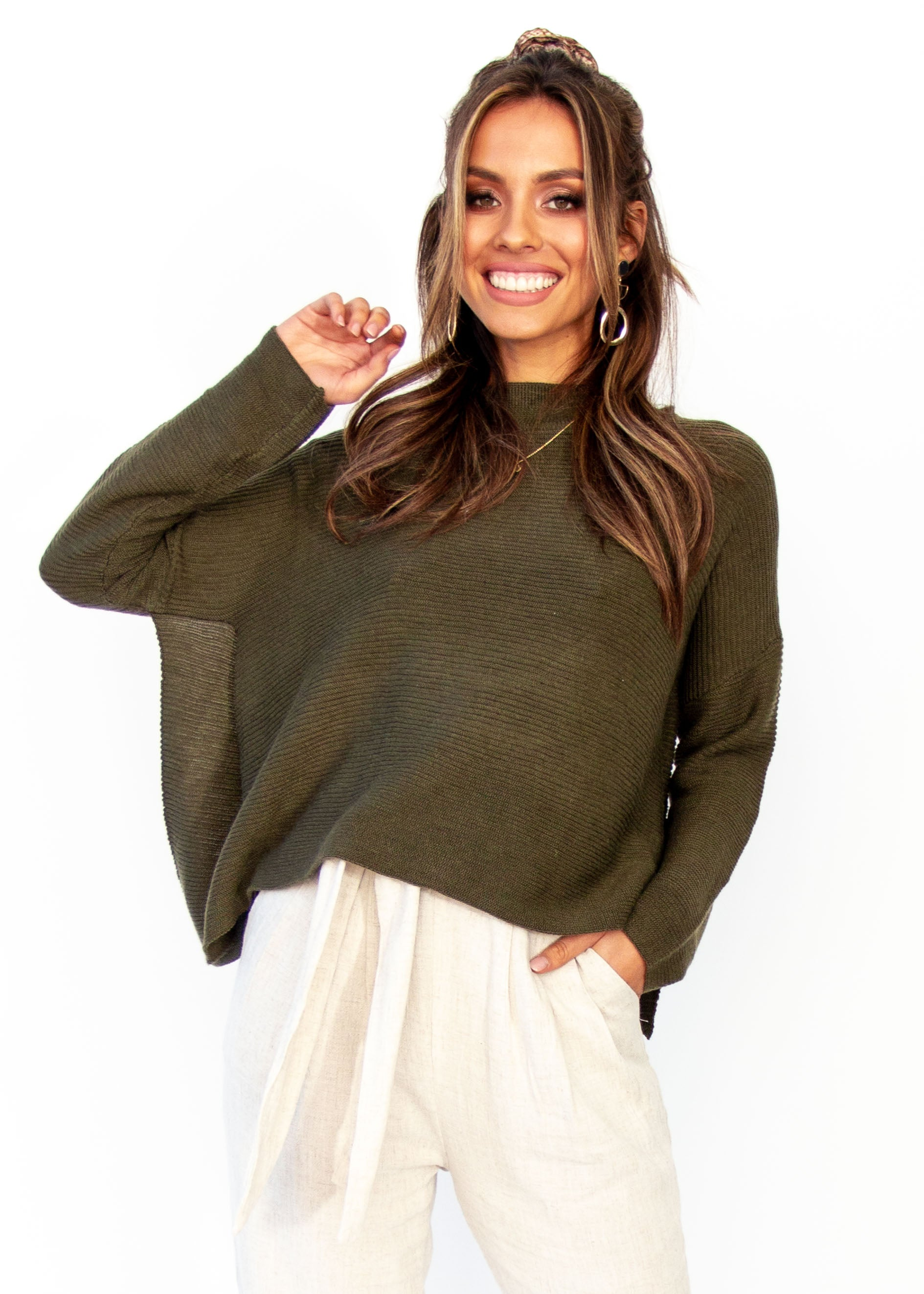 Women's Tahoe Sweater - Khaki