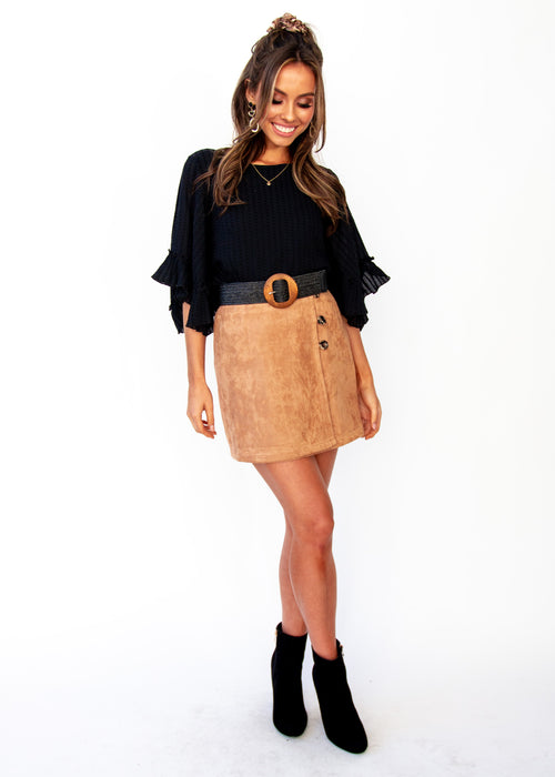 Love Spur Skirt - Tan