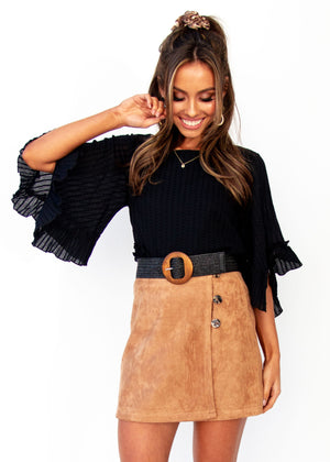 Women's Love Spur Skirt - Tan