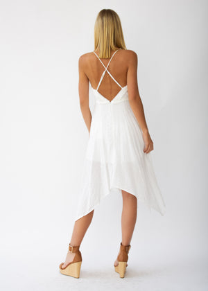 Innika Midi Dress - White