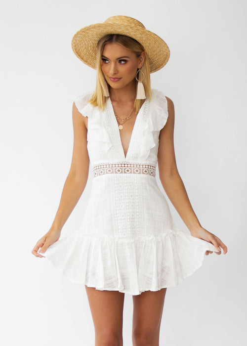 Face The Facts Dress - White