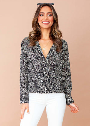 Women's Bettina Blouse - Black Spot