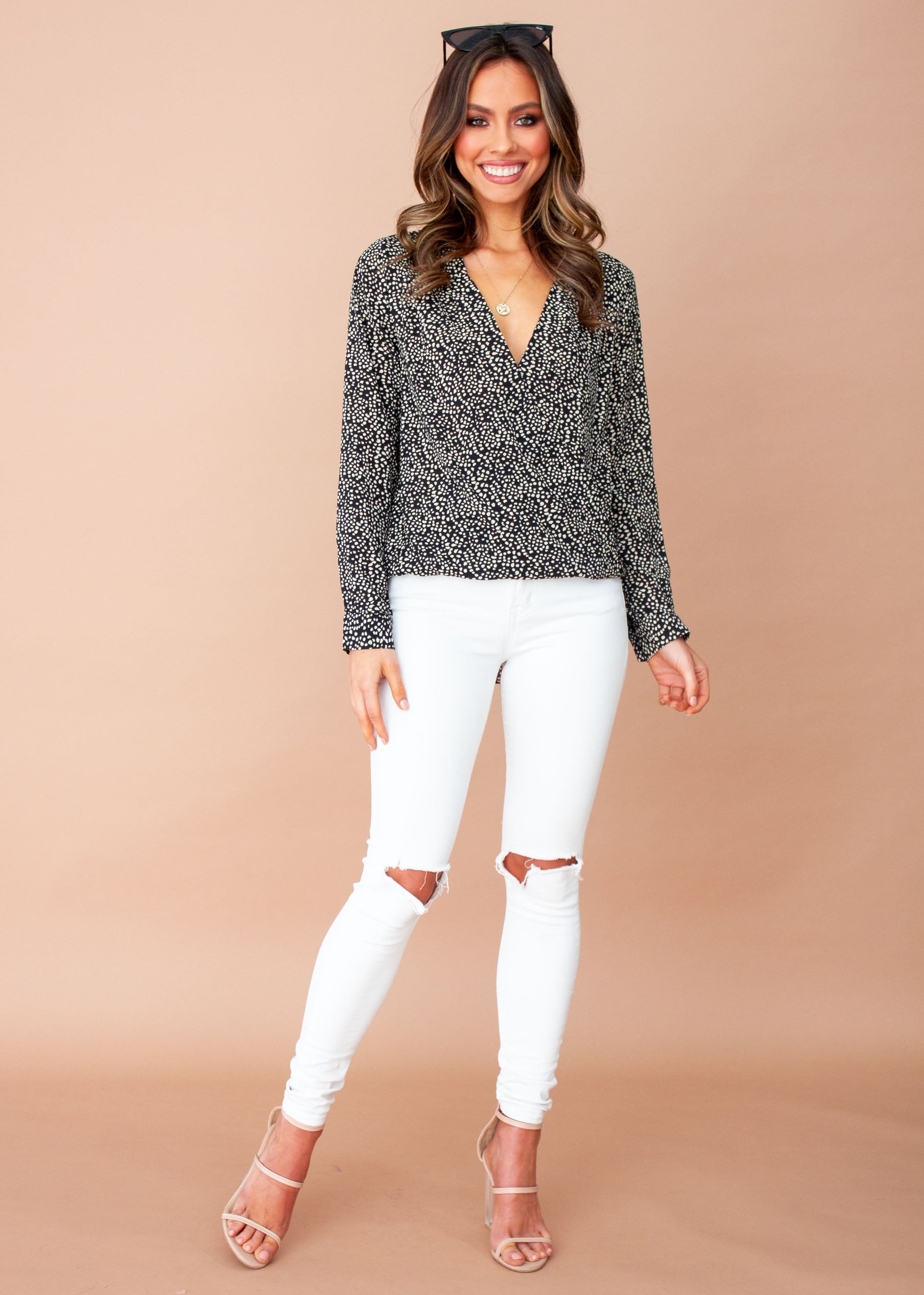 Bettina Blouse - Black Spot