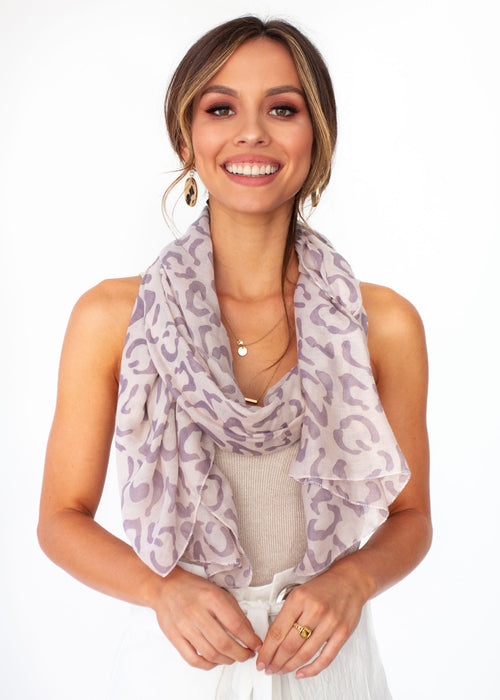 Essence Scarf - Blush Leopard