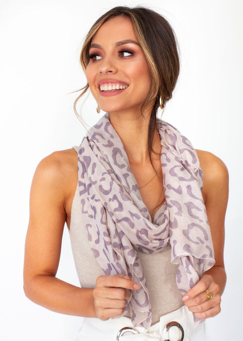Women's Essence Scarf - Blush Leopard