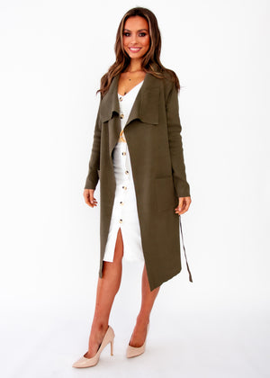 Nights Like This Knit Jacket - Khaki