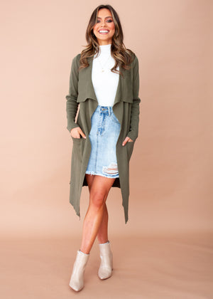 Women's Nights Like This Knit Jacket - Khaki