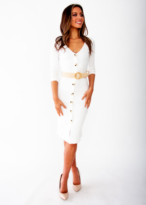 Women's Bold Move Midi Dress - White