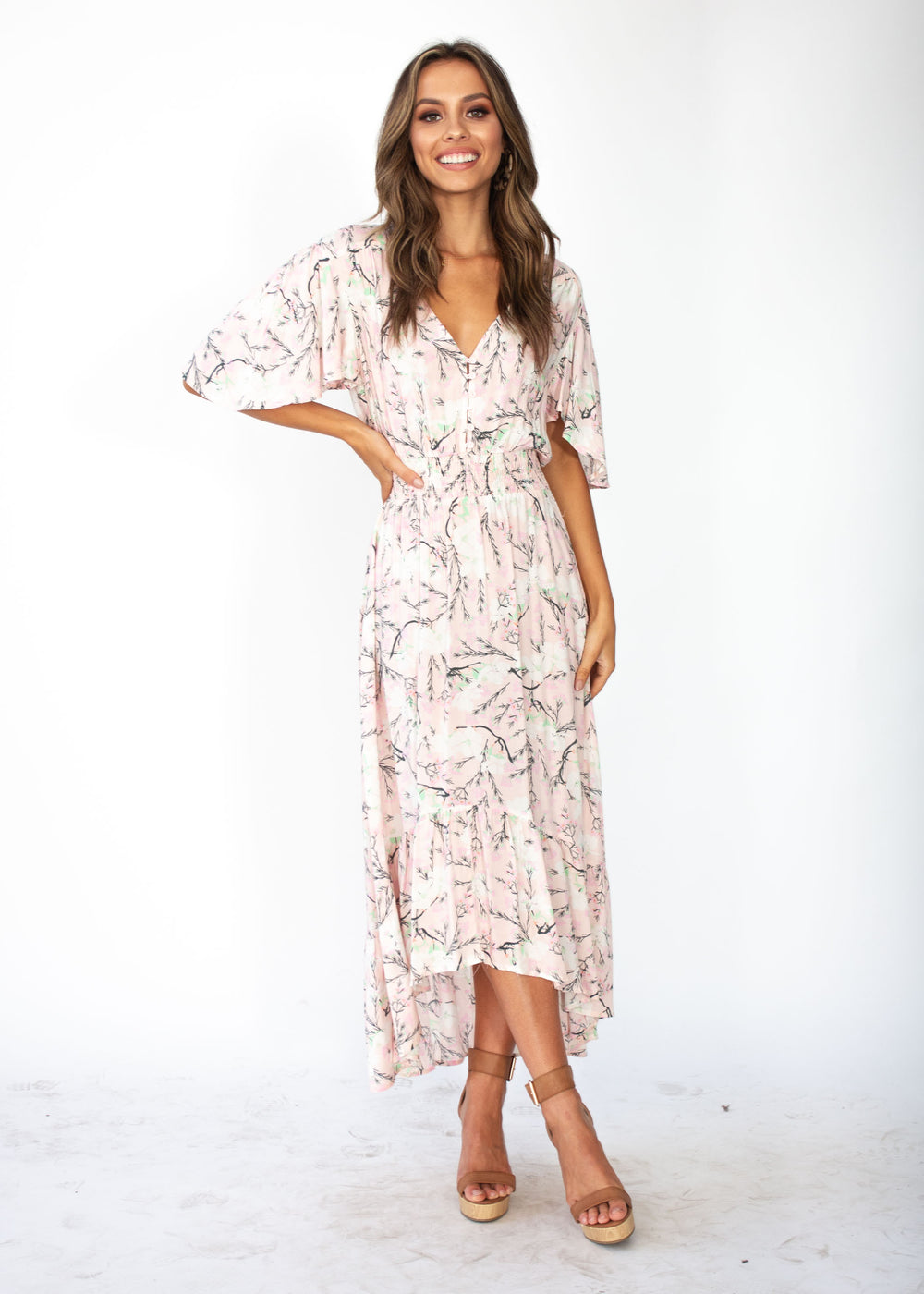 Close To Me Maxi Dress - Blush Blossoms