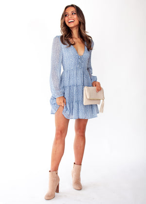 Fancy That Swing Dress - Blue Spot