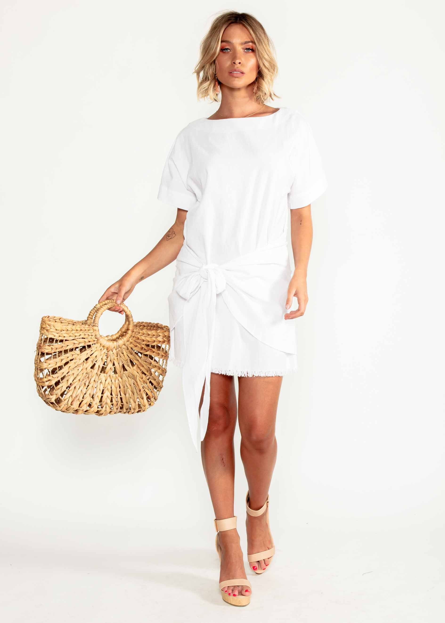 Hua Linen Dress - White