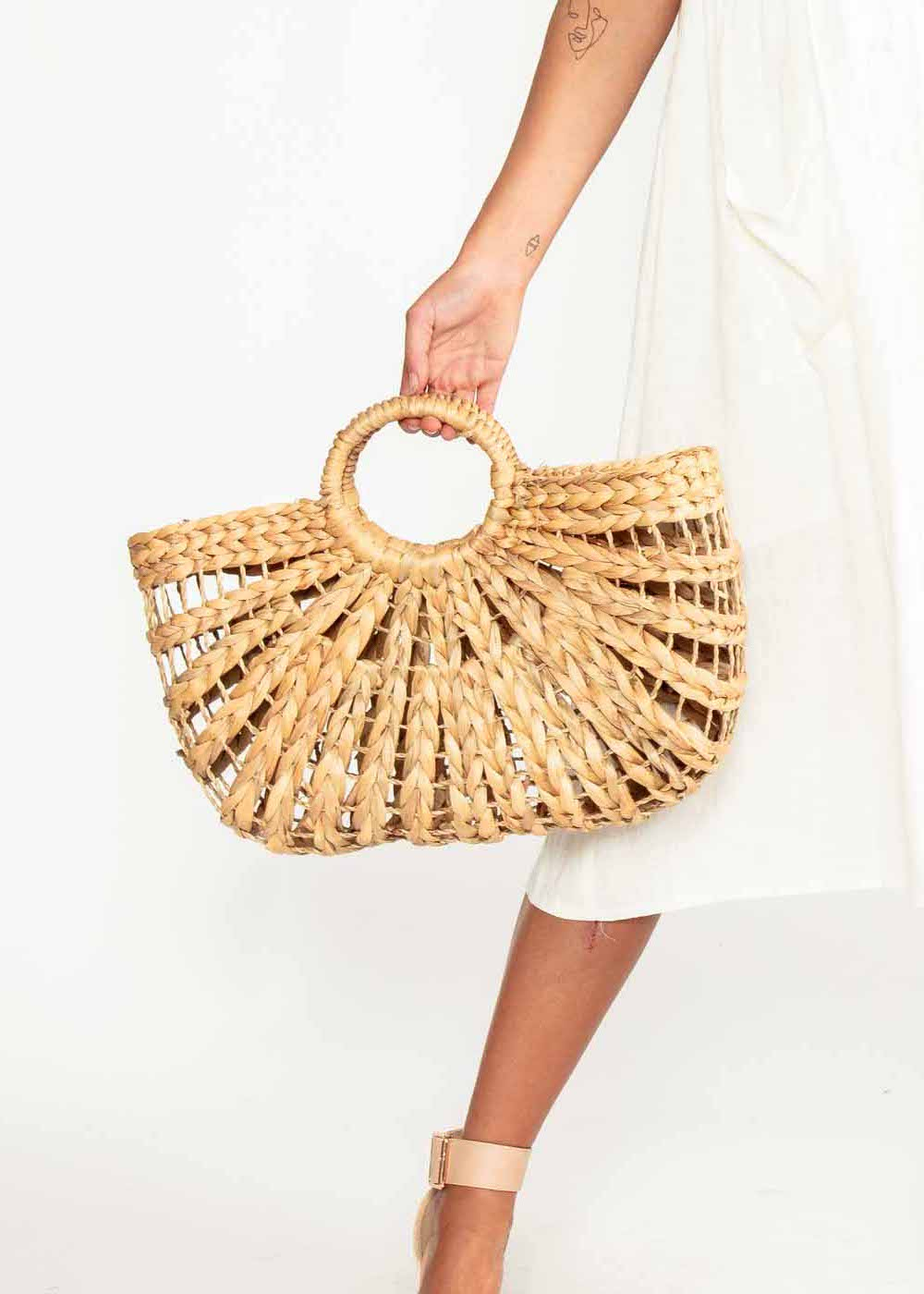 Palermo Straw Bag - Natural