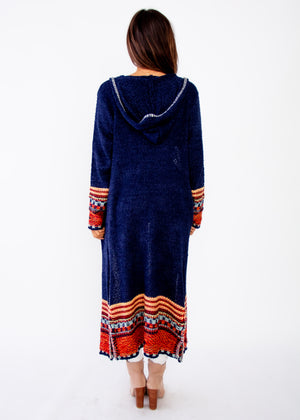 Ivy Hooded Cardigan - Navy