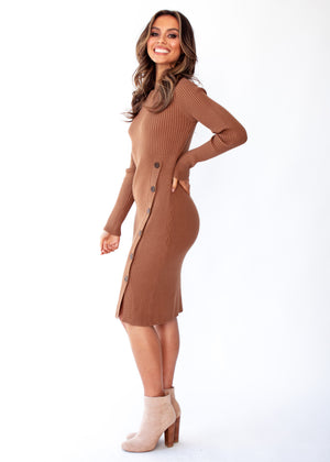 Alias Knit Midi Dress - Tan