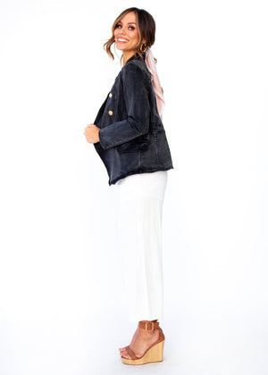 Think Quick Denim Jacket - Faded Black