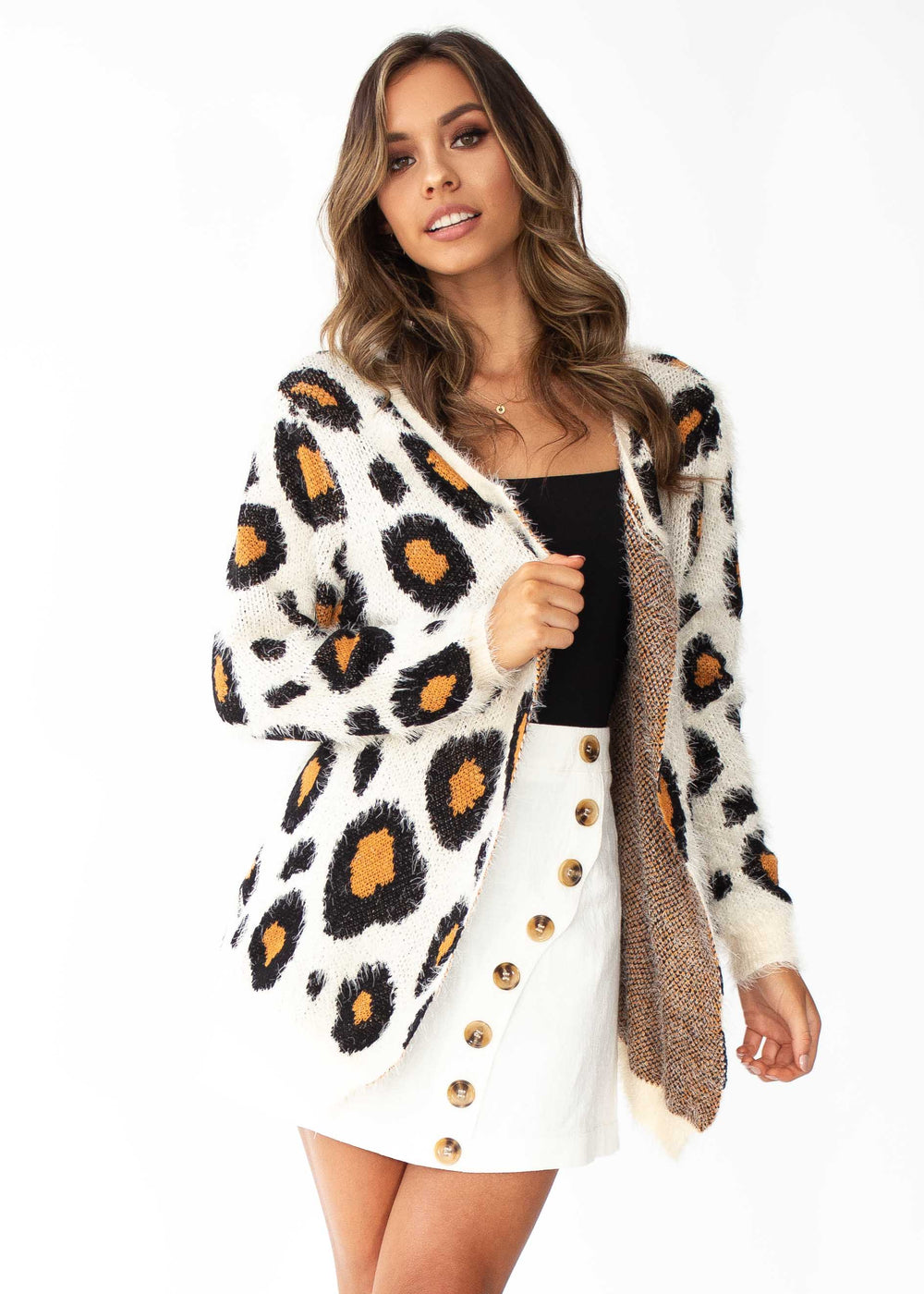 This Bliss Cardi - Beige Leopard