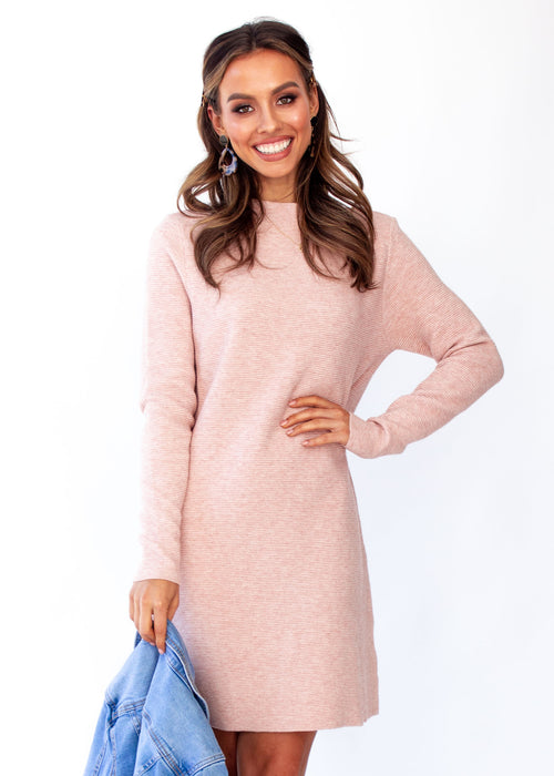 Sammi Knit Dress - Blush