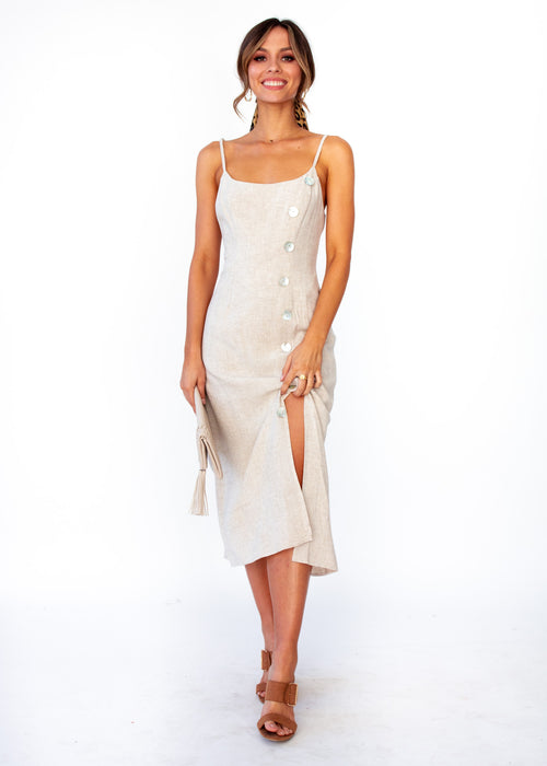 Women's Saoirse Midi Dress - Natural