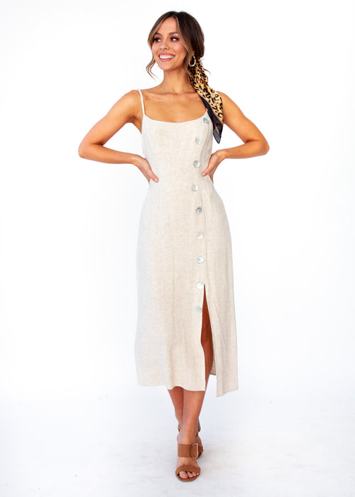 Saoirse Midi Dress - Natural