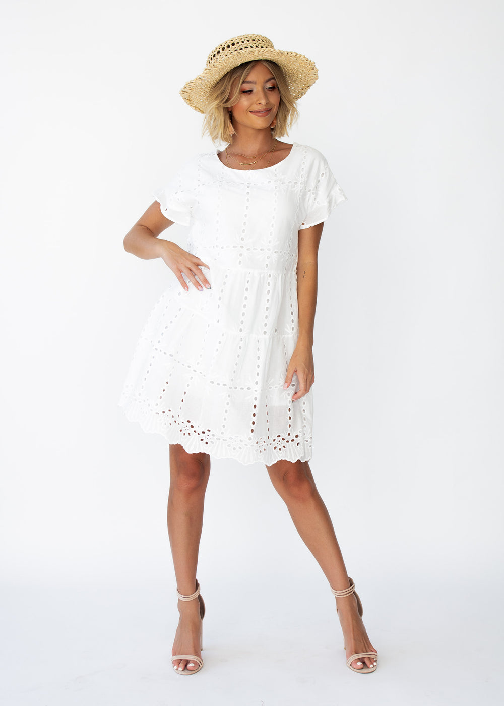Elba Swing Dress - White