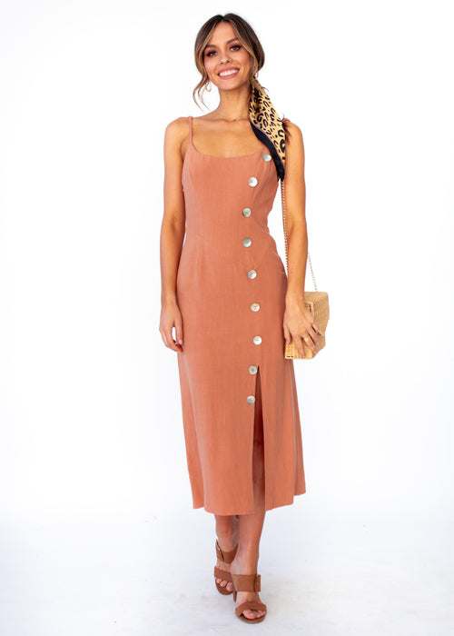 Saoirse Midi Dress - Tan
