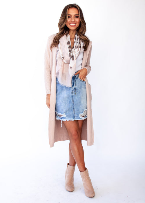 Women's Archie Hooded Cardigan - Blush