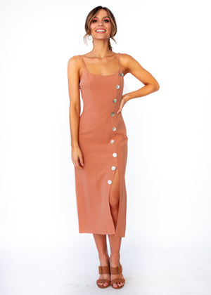 Women's Saoirse Midi Dress - Tan
