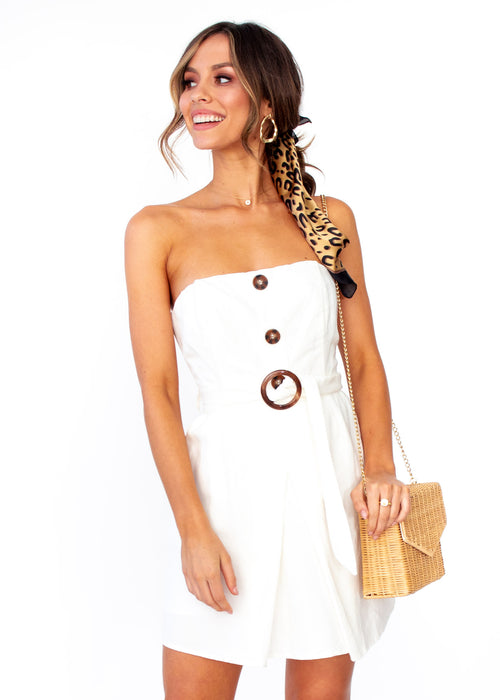 Hold Me Close Strapless Dress - Ivory