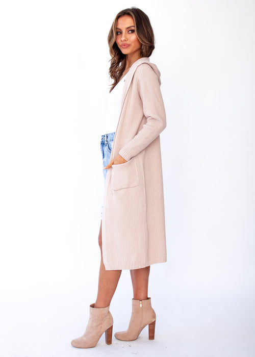 Archie Hooded Cardigan - Blush