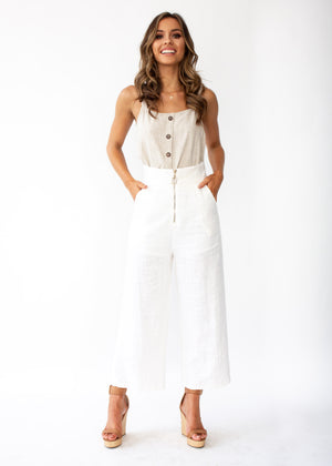 Set The Tone Pants - White