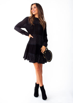 Amalia Tunic Dress - Black Spot